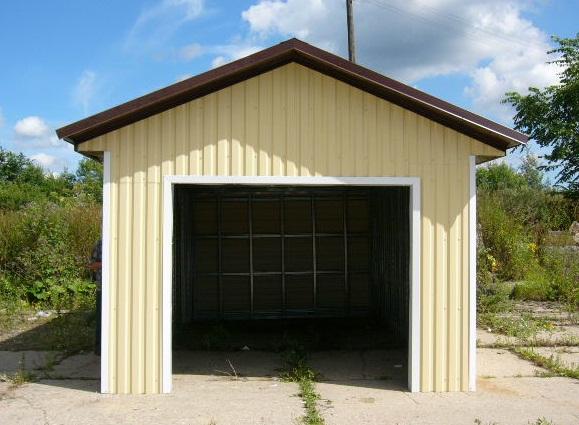 проект гаража - базовая комплектация