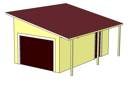 Проекты гаражей с плоской крышей каркасный гараж железный